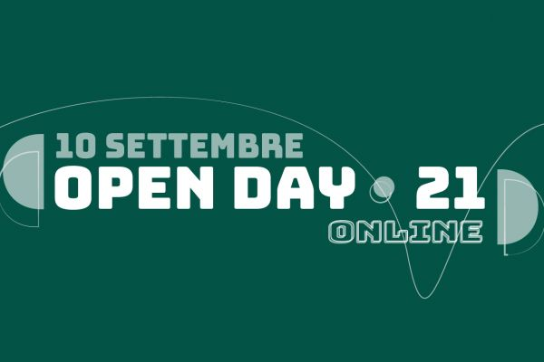 10 settembre 2021: Open Day Online!