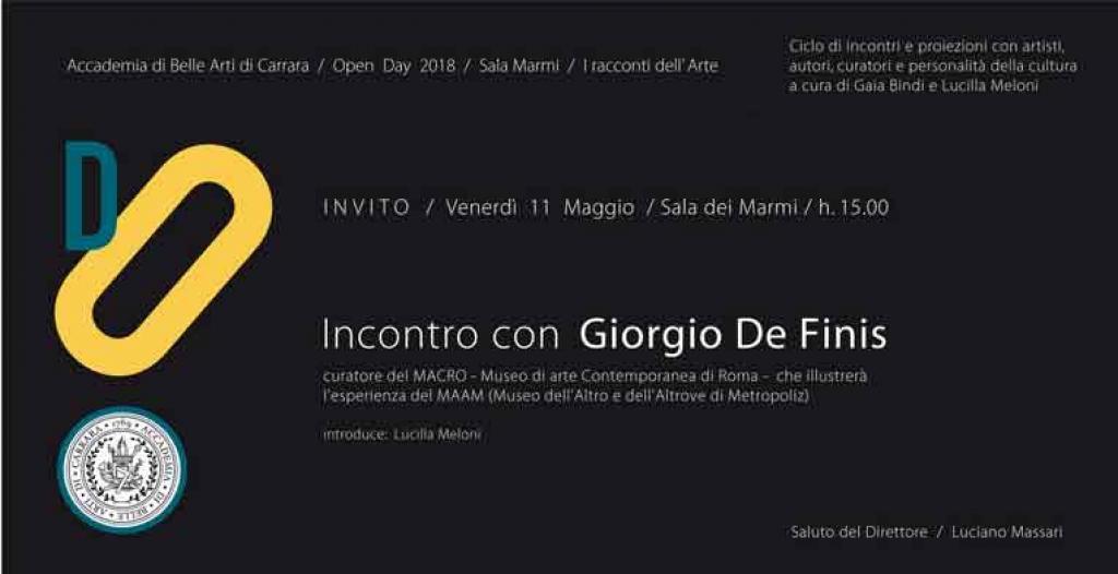 Incontro con Giorgio de Finis