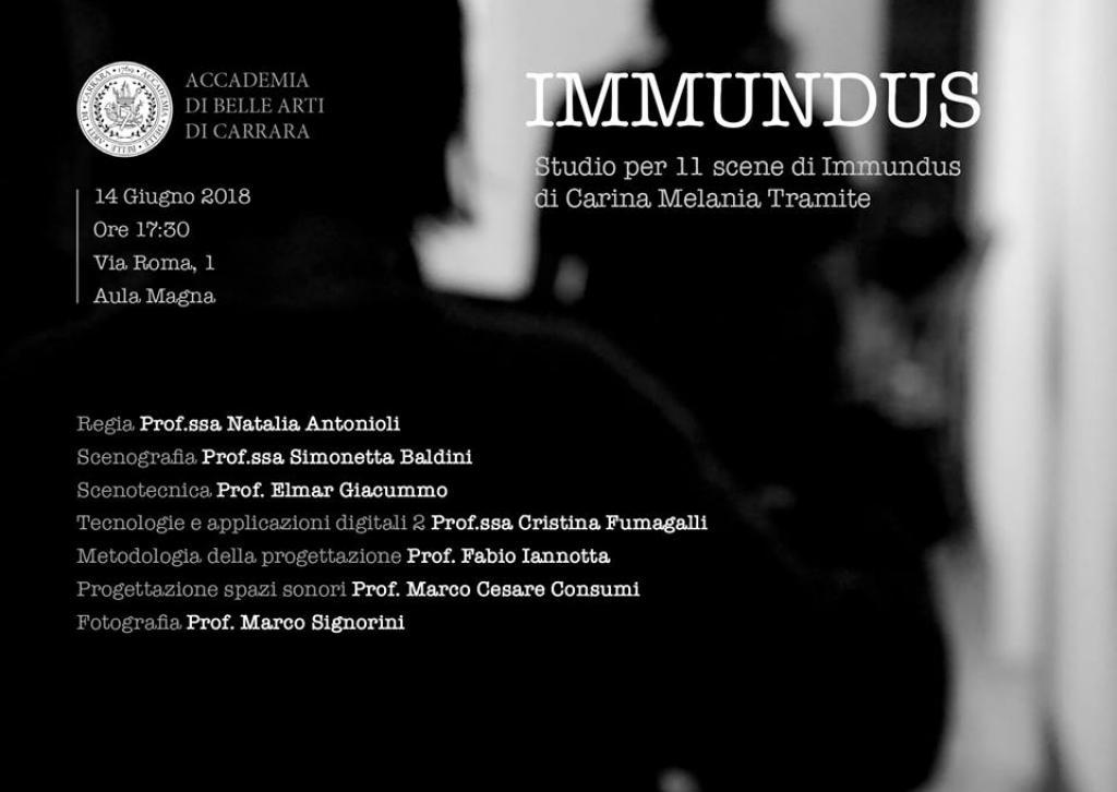 Immundus, un percorso fuori dal mondo