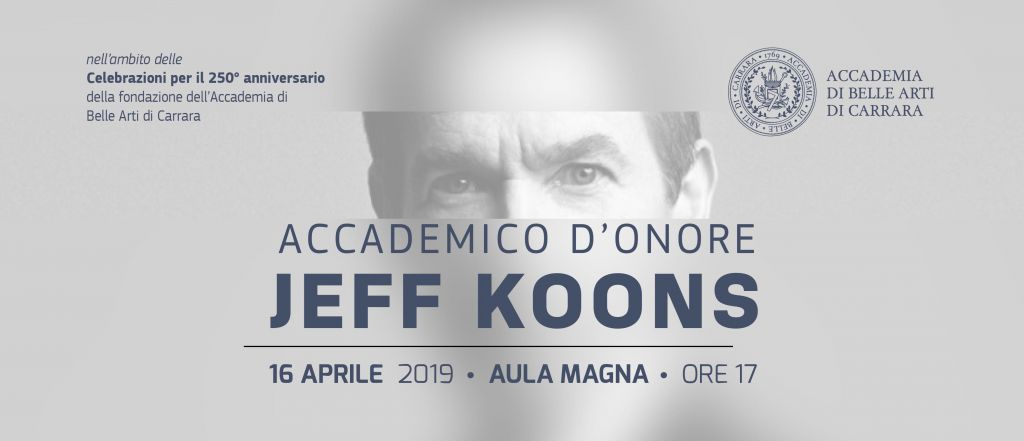 Jeff Koons Accademico D'Onore