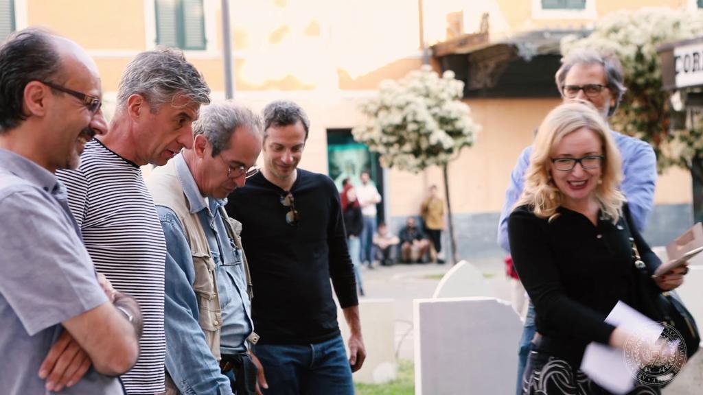 Maurizio Cattelan e Massimo Bottura all'Accademia di Belle Arti di Carrara